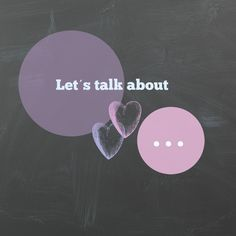 Let's talk about ... - Fräulein Musters Welt