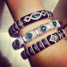 New Silver Boutique Bangles from Gabriel & Co!