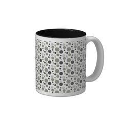 Bubbles in Black & Grey Coffee Mugs