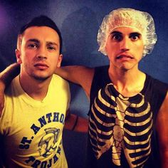 Tyler Joseph from Twenty | One | Pilots and Tyler Glenn... TG must've been bleaching his hair, lol