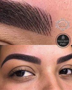 Microblading Eyebrows | Tattoo Eye brows | Natural looking Brows | Brow like strokes | Dark Eye Brows | Instagram Fleeky Eyebrows #eyes #eyebrows #microblading #microblade #natural #tatoo Pin: @amerishabeauty