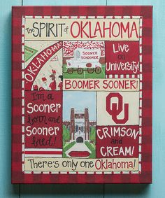 Look at this Oklahoma Sooners Spirit Canvas on #zulily today!