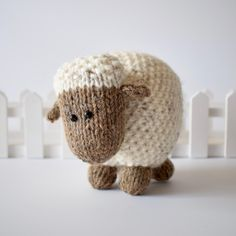 These sheep are knitted using moss stitch, and they make super toys, or pop them on your bookshelf to bring some woolly cheer to your home. This knitting pattern includes instructions to knit the large and small Moss the Sheep.THE PATTERN INCLUDES: Row numbers for each step so you don't lose your place, instructions for making the two sheep, photos, a list of abbreviations and explanation of some techniques, a materials list and recommended yarns.TECHNIQUES: All pieces are knitted flat on…