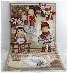 Pop up christmas card by ElizabethE - Cards and Paper Crafts at Splitcoaststampers Pop Up Christmas Cards, Pop Up Cards, Magnolia Stamps, Calligraphy Pens, Pen And Paper, Cardmaking, Paper Crafts, Invitations, Copic