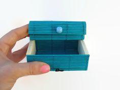 Blue Bamboo Handmade Gift Box Blue Jewelry Box by ShopToCreate