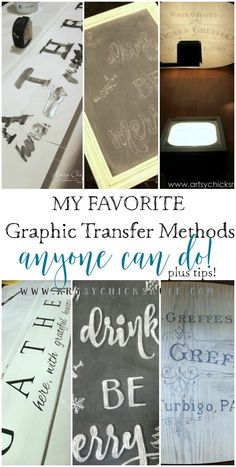 Want to know How To Transfer Graphics?? I've got all the details right here to get you started on your path to making pretty signs, furniture & more!