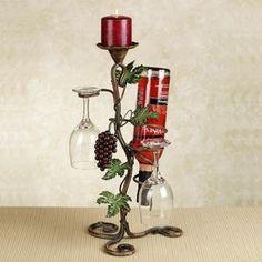 Vina Bella Grapes Wine Bottle Holder...want