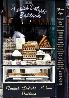 Dessert shop in Istanbul.