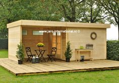 OLP Odille 200 O - Outdoor Life Products blokhutten Sauna House, Tiny House Cabin, Cabin Homes, Cottage Homes, Outdoor Lounge, Outdoor Life, Outdoor Spaces, Small Backyard Patio, Backyard Sheds