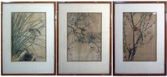 3 @ IMAO KEINEN JAPANESE WOODBLOCKS FLOWERS BIRDS - Currently Available @ E. M. Wallace Auctions & Appraisals www.EMWAA.com & or info@EMWAA.com