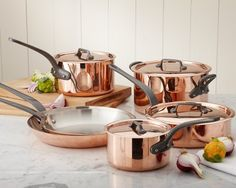 Mauviel Professional Copper 10-Piece Cookware Set #williamssonoma Yes, please