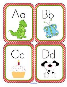 Alphabet flashcards set