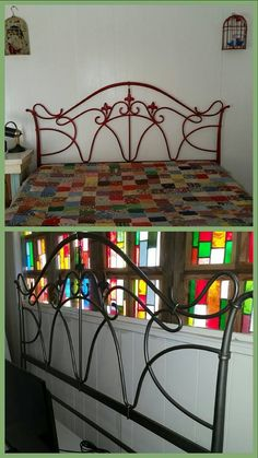Garage sale find faux pewter headboard, spray painted red is a perfect fit for queen size adjustable bed. Garage Sale Finds, Adjustable Beds, Queen Size, Reuse, Pewter, Repurposed, Perfect Fit, Recycling, Diy Projects