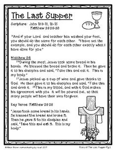 Weekly Bible Lessons: Jesus Enters Jerusalem and the Last Supper