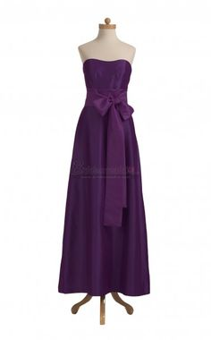 Sweetheart Neck Long Taffeta Grape Vintage Bridesmaid Dress BDS-CA043