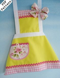 PDF Sewing Pattern for Precious Childs Apron 3 Sizes | eBay