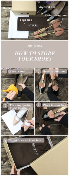 ANYI LU | ANYI'S TIPS: HOW TO STORE YOUR SHOES #storeshoes #shoes #shoestorage #anyistips #anyilu #shoecare #howto