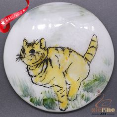 CHARMING FRIDGE MAGNET CAT WALL DECOR DIY WHITE STONE ZR3000007 #ZL #FridgeMagnet
