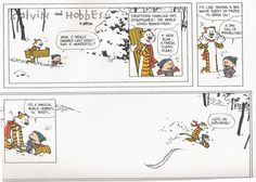 The final Calvin and Hobbes strip. Thank you, Bill Watterson.