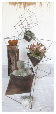 wire shapes as planters