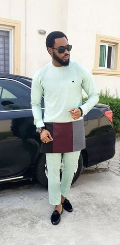 Check out this Trendy modern african fashion Latest African Wear For Men, African Attire For Men, African Clothing For Men, Trendy Clothing, African Dresses Men, African Shirts, Nigerian Men Fashion, African Men Fashion, Suit Fashion