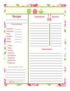 533 best recipe pages cards images cooking recipes free