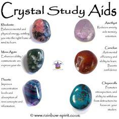 Crystal Set of Study Aids Chakra Crystals, Crystals And Gemstones, Stones And Crystals, Wicca Crystals, Gem Stones, Crystal Shop, Crystal Guide, Crystal Magic, Crystal Healing Stones