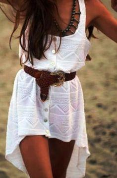 Adorable sleeveless white mini dress fashion