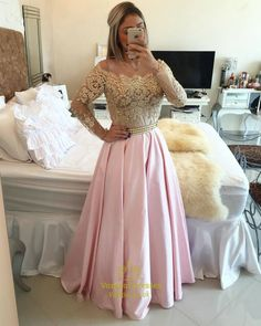 vampal.co.uk Offers High Quality Gold Lace Off The Shoulder Long Sleeve Pink…