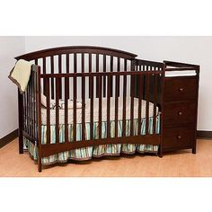 Walmart: Storkcraft Bradford Fixed Side Convertible Crib And Changing Table,  Espresso