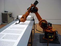 kuka robot writing the bible