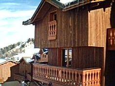 Location vacances chalet Plagne Villages: façade châlet