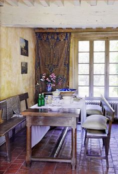 """This authentic dining area is from our Feature """"The French Way"""""""