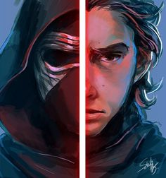 """soleil7775: """" it's been a long time…here is fast color doodle of Matt…..ah Kylo Ren. sorry for bad details….didn't have time to look at the ref tho… """""""