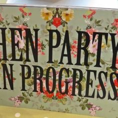 OH This is soo cute Hen-party-in-progress.jpg #vintagehenparty #henpartyideas #bacheloretteparty