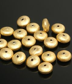 Gold Vermeil Brushed Rondel 4x9mm