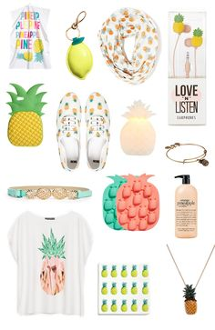 Let's get fruity tropical style Cute Pineapple, Pineapple Outfit, Pineapple Gifts, Pineapple Clothes, Pineapple Print, Estilo Tropical, Tropical Style, Gifts For Teens, My New Room