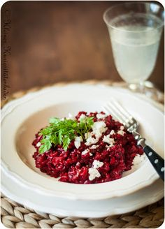 Rote-Bete-Risotto - New Ideas Beet Salad Recipes, Veggie Recipes, Lunch Recipes, Baby Food Recipes, Dinner Recipes, Healthy Recipes, Veggie Food, Kids Meals, Easy Meals