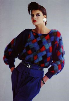 Anny Blatt Catalogue 1985 - Linda Evangelista - 80s inspiration for CATs Vintage - 1980s style - fashion