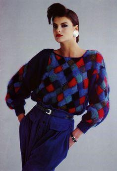 Anny Blatt Catalogue 1985 - Linda Evangelista - 80s inspiration for CATs Vintage - 1980s style - fashion