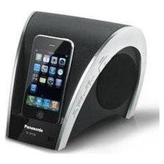 Panasonic SC-SP100 iPhone/iPod Speaker Dock - PC Synchronization, Unique Compact Design, Integrated Subwoofer
