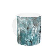 Shuffling by CarolLynn Tice 11 oz. Blue Ceramic Coffee Mug