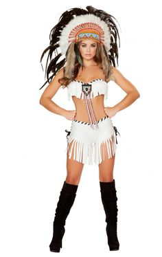 Roxanni 4478 2pc Native American Warrior Costume by Roma Halloween Costumes