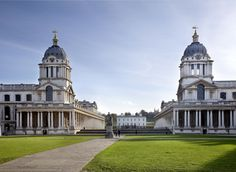 Old Royal Naval College London, United Kingdom Arts + Culture Offbeat grass building sky landmark stately home château classical architecture palace daytime tourist attraction national trust for places of historic interest or natural beauty government building listed building cloud medieval architecture tree basilica mansion lawn spire cathedral university place of worship manor house City house plaza baptistery steeple historic site big old stone