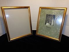 Antique 2 Notre 8X10 Brass Double Bead embossed picture frames 8x10 easel /wall by Bringingpast2Present on Etsy