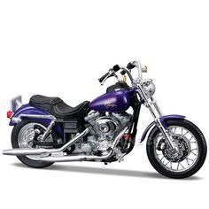 Miniatura Moto Harley-Davidson 2000 FXDL Dyna Low Rider Maisto 1:18 - Machine Cult | A loja das camisetas de carro e moto