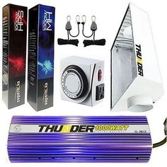 THUNDER (TM) Starter Kit 1000-Watt Light Digital Dimmable HPS MH Grow Light System for Plants with EcoSun (Small) 6-Inch White Air Coolable Reflector for Plants with Easy Location Mounting – 5 Year Manufacturer Warranty   THUNDER (TM) Starter Kit 1000-Watt Light Digital Dimmable HPS MH Grow Light System for Plants with EcoSun (Small) 6-Inch White Air Coolable Reflector for Plants with Easy Location Mounting - 5 Year Manufacturer Warranty At Thunder®, we are serious about customers an..