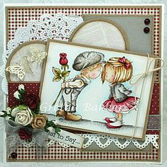LOTV's Ideas to Inspire - Lots of great embellishments on this card