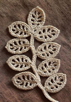 Click to get the pattern:   Pattern for the branch and flower.      You can find this pattern/tutorial alone with some others at Irish Cro...