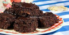 Brownie sem glúten, sem lactose e sem ovo Brownie brownie 0 lactose Sin Gluten, Sem Gluten Sem Lactose, Lactose Free, Dairy Free, Foods With Gluten, Vegan Foods, Gluten Free Recipes, Healthy Chocolate, Chocolate Recipes